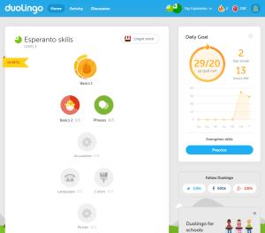 Duolingo Esperanto Skill Tree