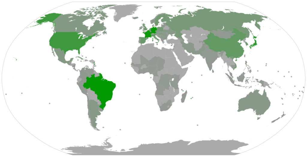 Number of UEA members by country